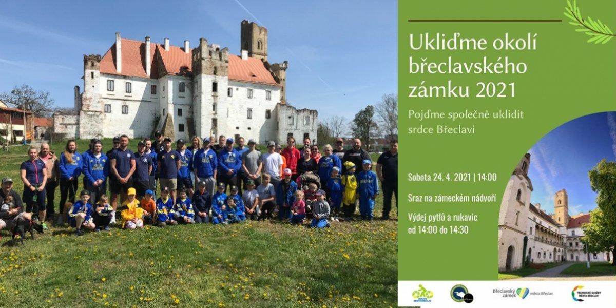 Úklid kolem Břeclavského zámku