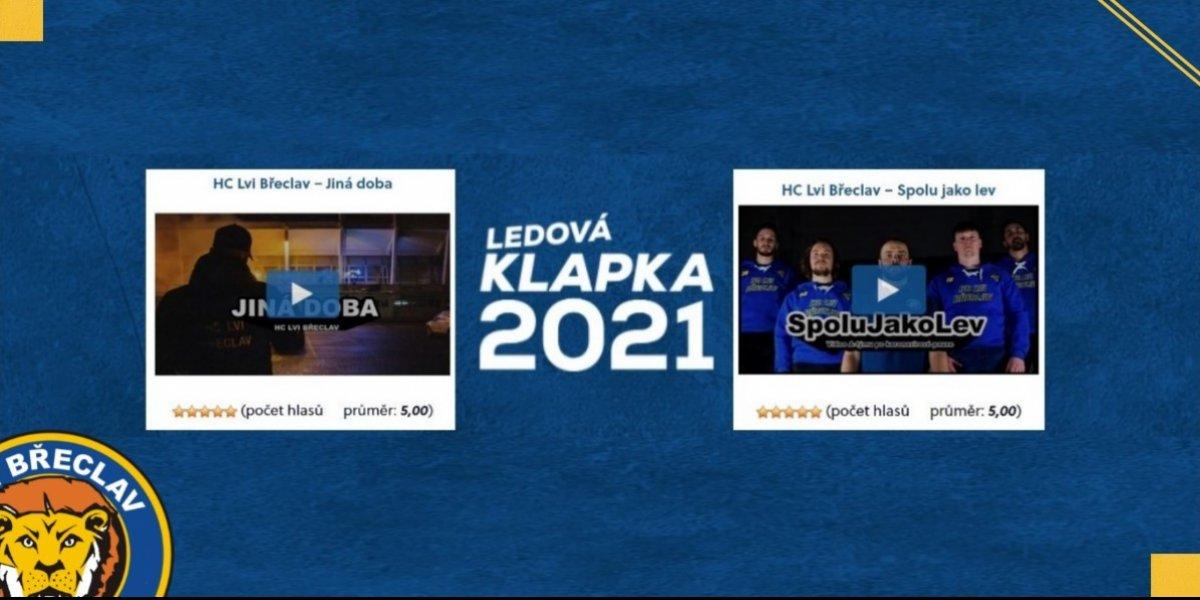 Obě Lví videa v TOP 5 Finále Ledové Klapky 2021. Hlasování fanoušků spuštěno!
