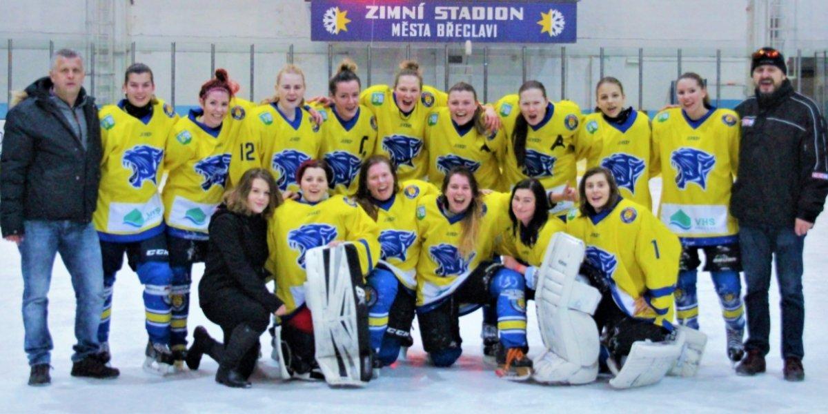 I druhá sezona břeclavských hokejistek je hodnocená jako velmi úspěšná.